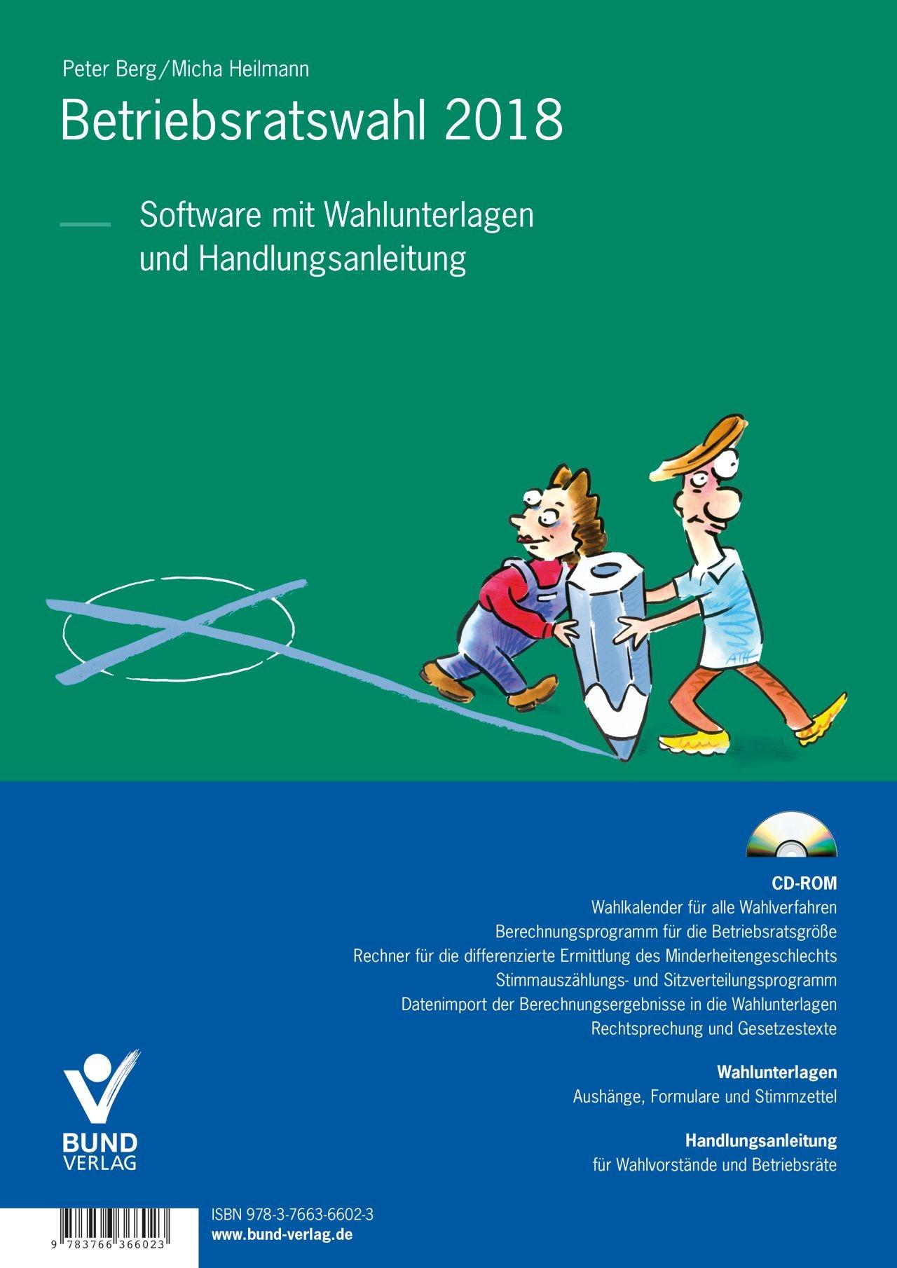 Betriebsratswahl 2018 | Berg / Heilmann | 8. Auflage, 2017 (Cover)