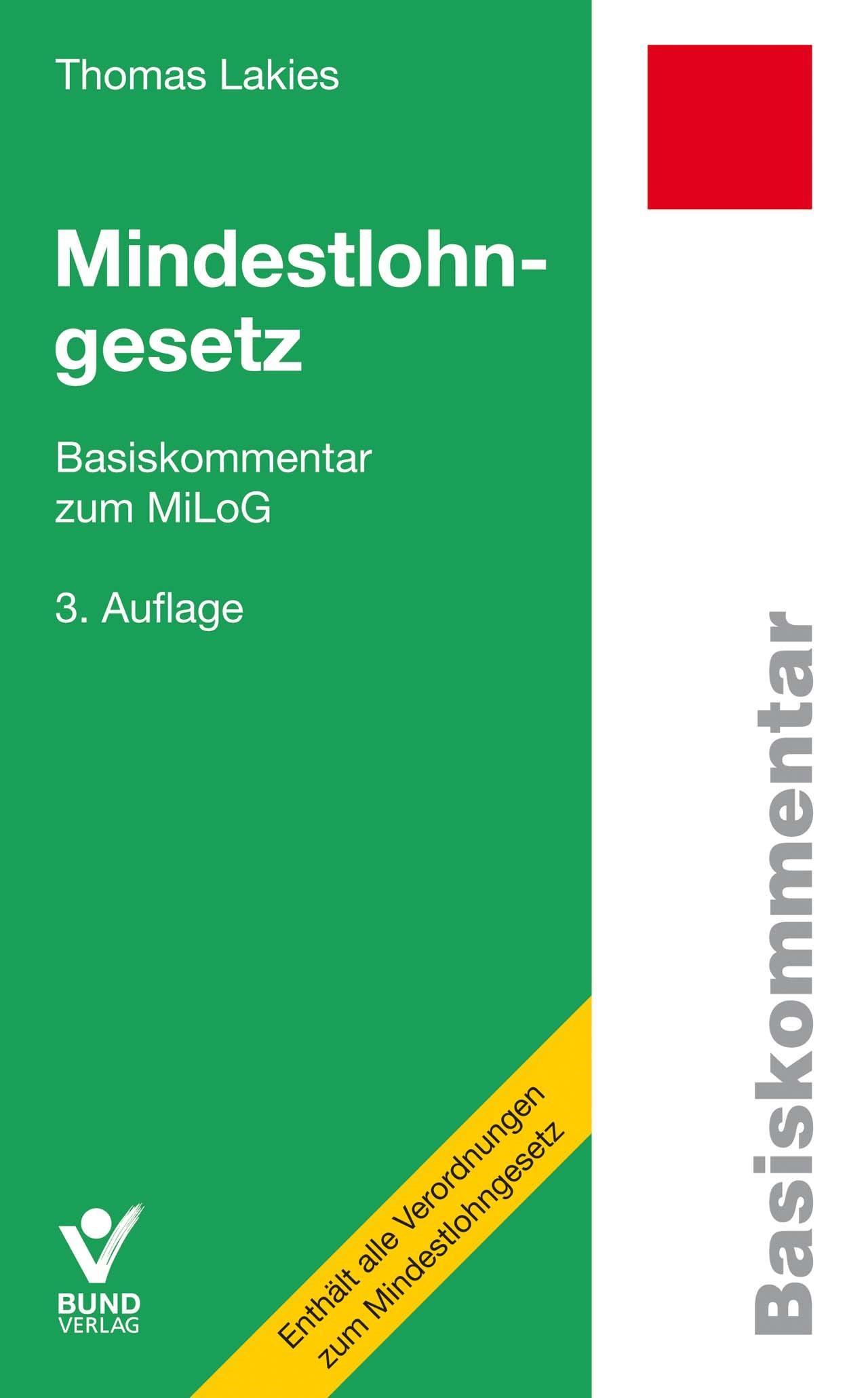 Mindestlohngesetz | Lakies | 3. Auflage, 2017 | Buch (Cover)