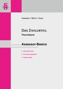 Das Zivilurteil. Assessor-Basics | Hemmer / Wüst / Gold | 12. Auflage, 2016 | Buch (Cover)