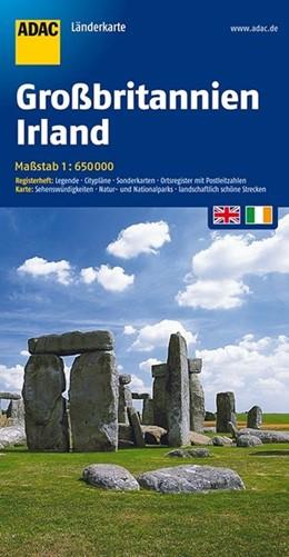Abbildung von ADAC LänderKarte Großbritannien / Irland 1 : 650 000   9. Auflage. Laufzeit bis 2021   2016   Register: Citypläne, Sonderkar...