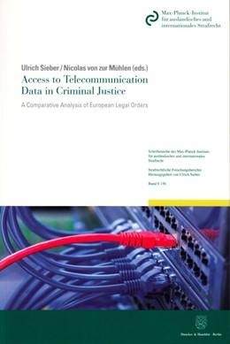Abbildung von Sieber / Mühlen | Access to Telecommunication Data in Criminal Justice | 1. Auflage | 2016 | beck-shop.de