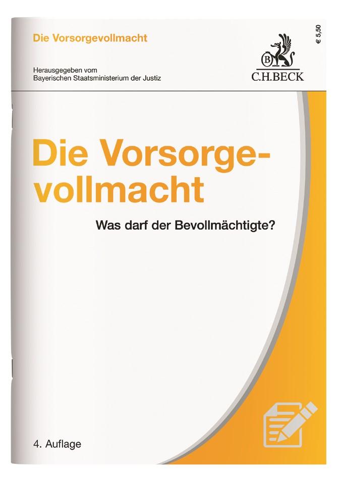 Die Vorsorgevollmacht | 4. Auflage, 2017 | Buch (Cover)