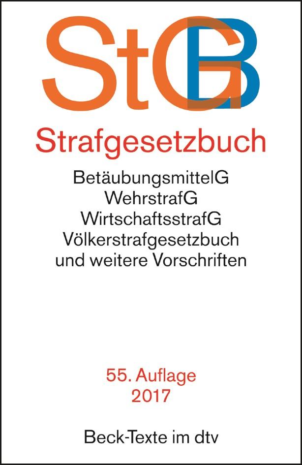 Strafgesetzbuch: StGB   55. Auflage, 2017   Buch (Cover)