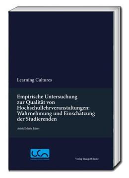 Abbildung von Lüers   Empirische Untersuchung zur Qualität von Hochschullehrveranstaltungen: Wahrnehmung und Einschätzung der Studierenden   1. Auflage   2016   beck-shop.de