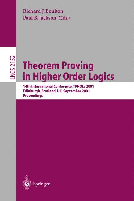 Theorem Proving in Higher Order Logics | Boulton / Jackson, 2001 | Buch (Cover)