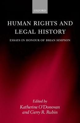 Abbildung von O'Donovan / Rubin | Human Rights and Legal History | 2000 | Essays in Honour of Brian Simp...