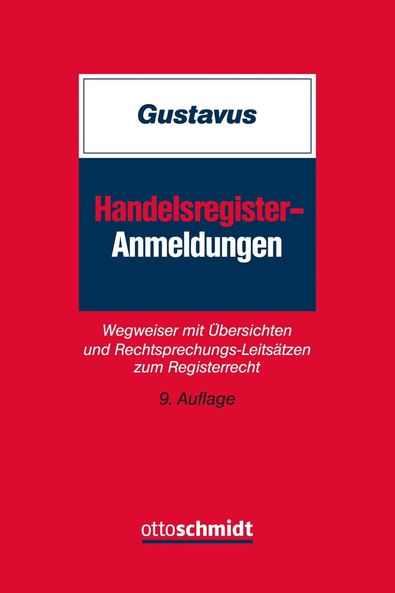 Handelsregister-Anmeldungen | Gustavus (Cover)