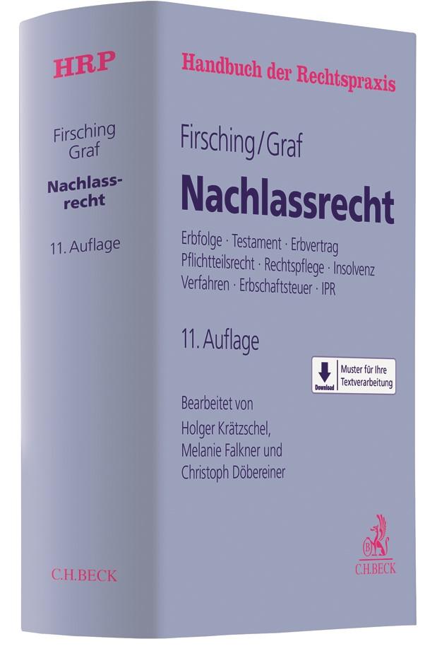 Nachlassrecht | Firsching / Graf | 11., vollständig überarbeitete und ergänzte Auflage, 2019 | Buch (Cover)