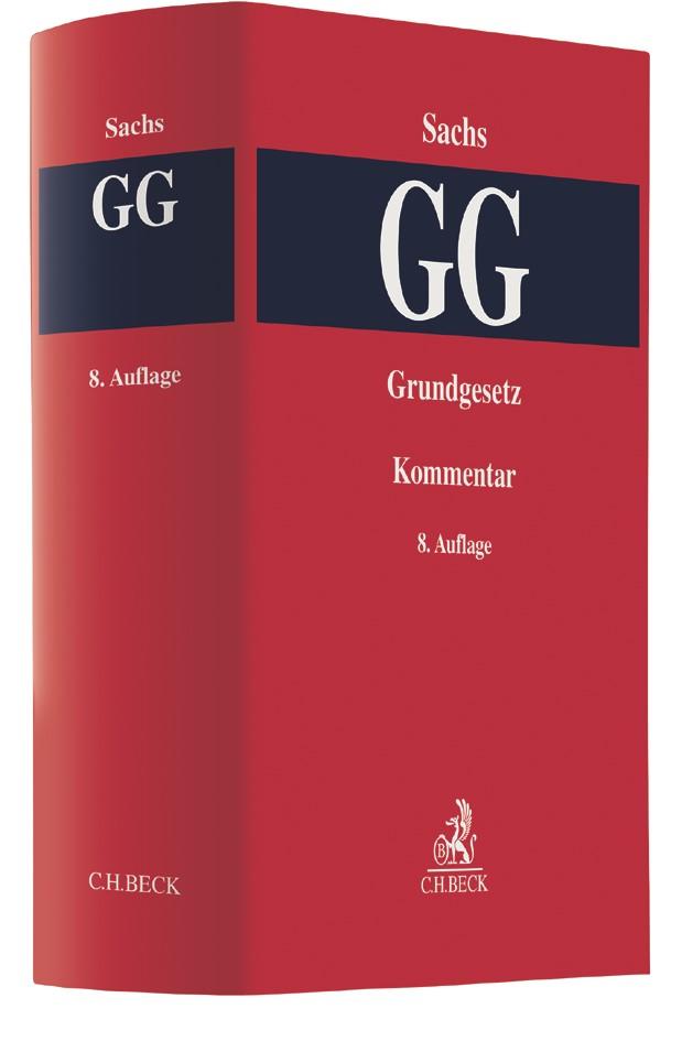 Grundgesetz: GG | Sachs | 8. Auflage, 2017 | Buch (Cover)