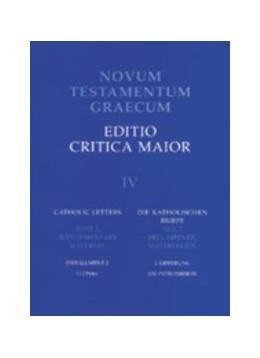 Abbildung von Aland / Mink / Wachtel | Novum Testamentum Graecum. Editio Critica Maior / Die katholischen Briefe | 2000 | Die Petrusbriefe