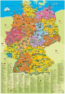 Abbildung von Deutschland politisch Poster | 2017