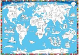 Abbildung von Malkarte Welt Poster | 1. Auflage | 2017