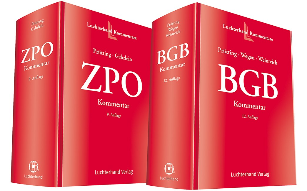 BGB Kommentar (12. Auflage) und ZPO-Kommentar (9. Auflage) • Set | Prütting / Gehrlein / Wegen / Weinreich (Hrsg.) | Buch (Cover)