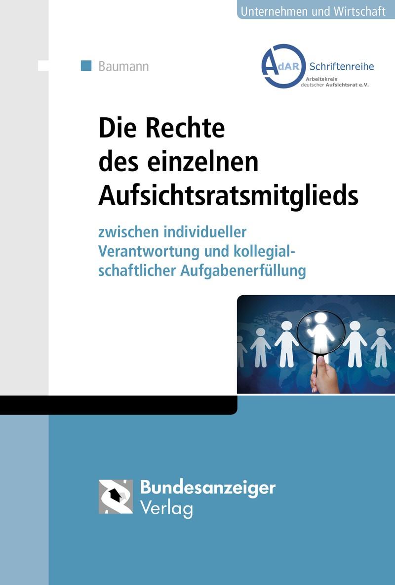 Die Rechte des einzelnen Aufsichtsratsmitglieds | Baumann, 2016 | Buch (Cover)