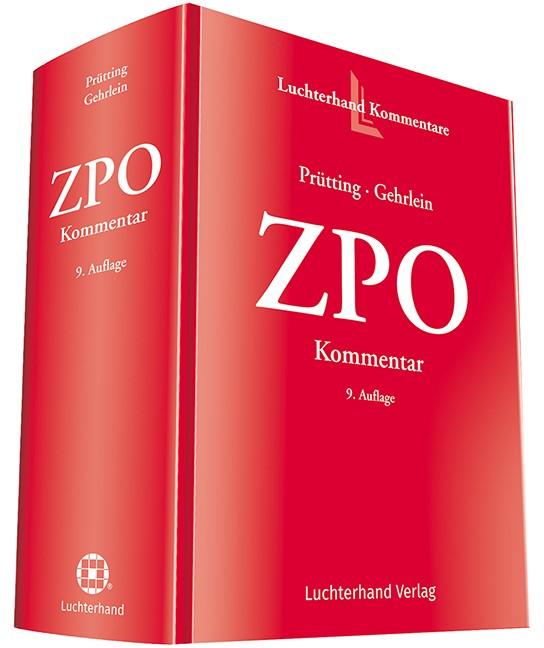 ZPO | Prütting / Gehrlein (Hrsg.) | 9. Auflage, 2017 | Buch (Cover)