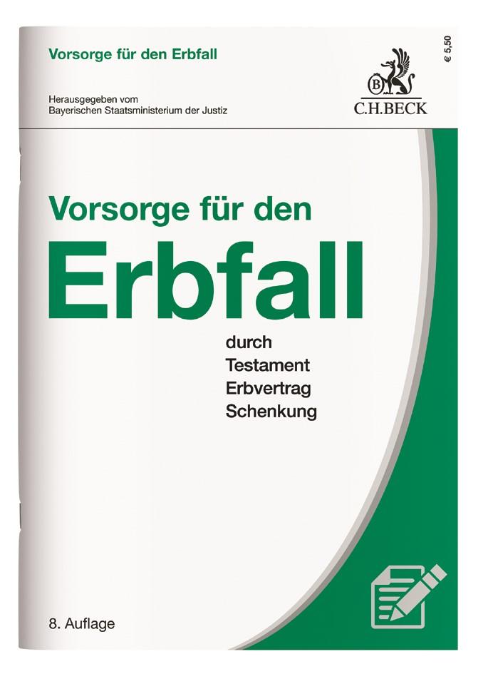 Vorsorge für den Erbfall | 8. Auflage, 2017 | Buch (Cover)