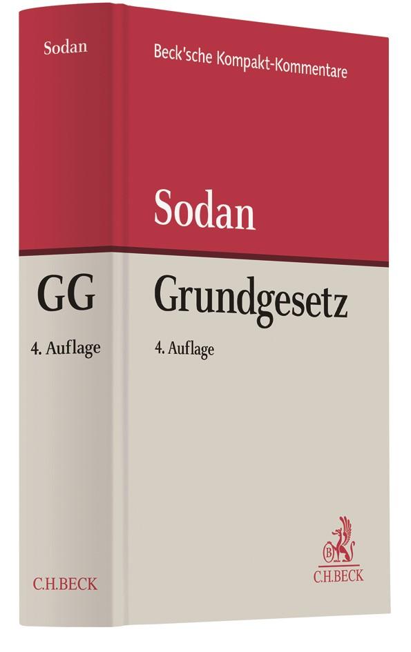 Grundgesetz: GG | Sodan | 4. Auflage, 2017 | Buch (Cover)