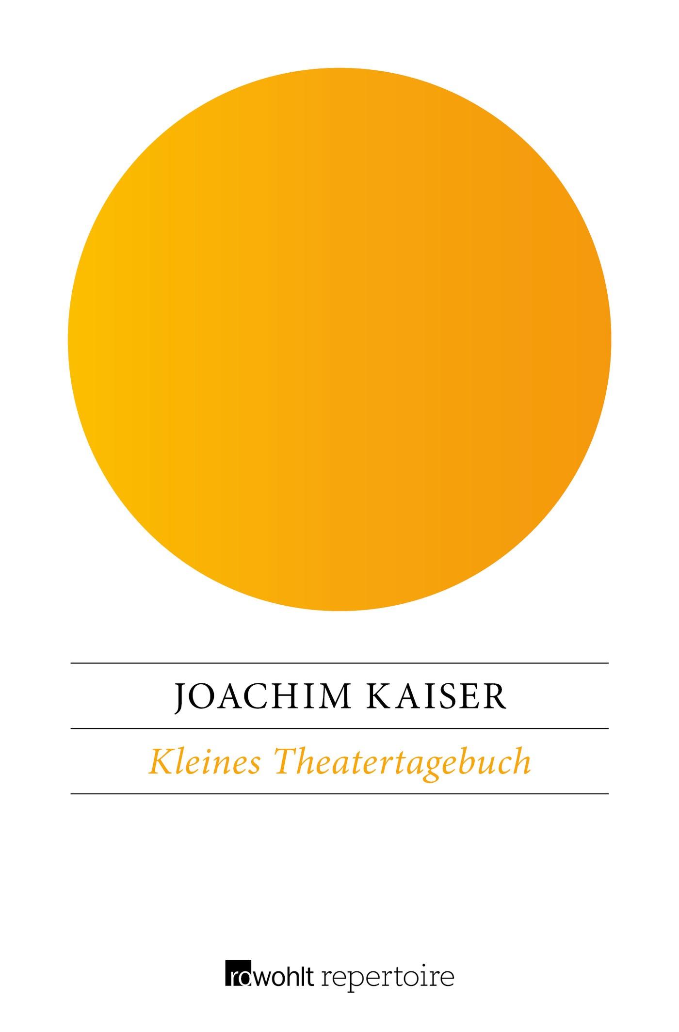 Kleines Theatertagebuch | Kaiser, 2016 | Buch (Cover)