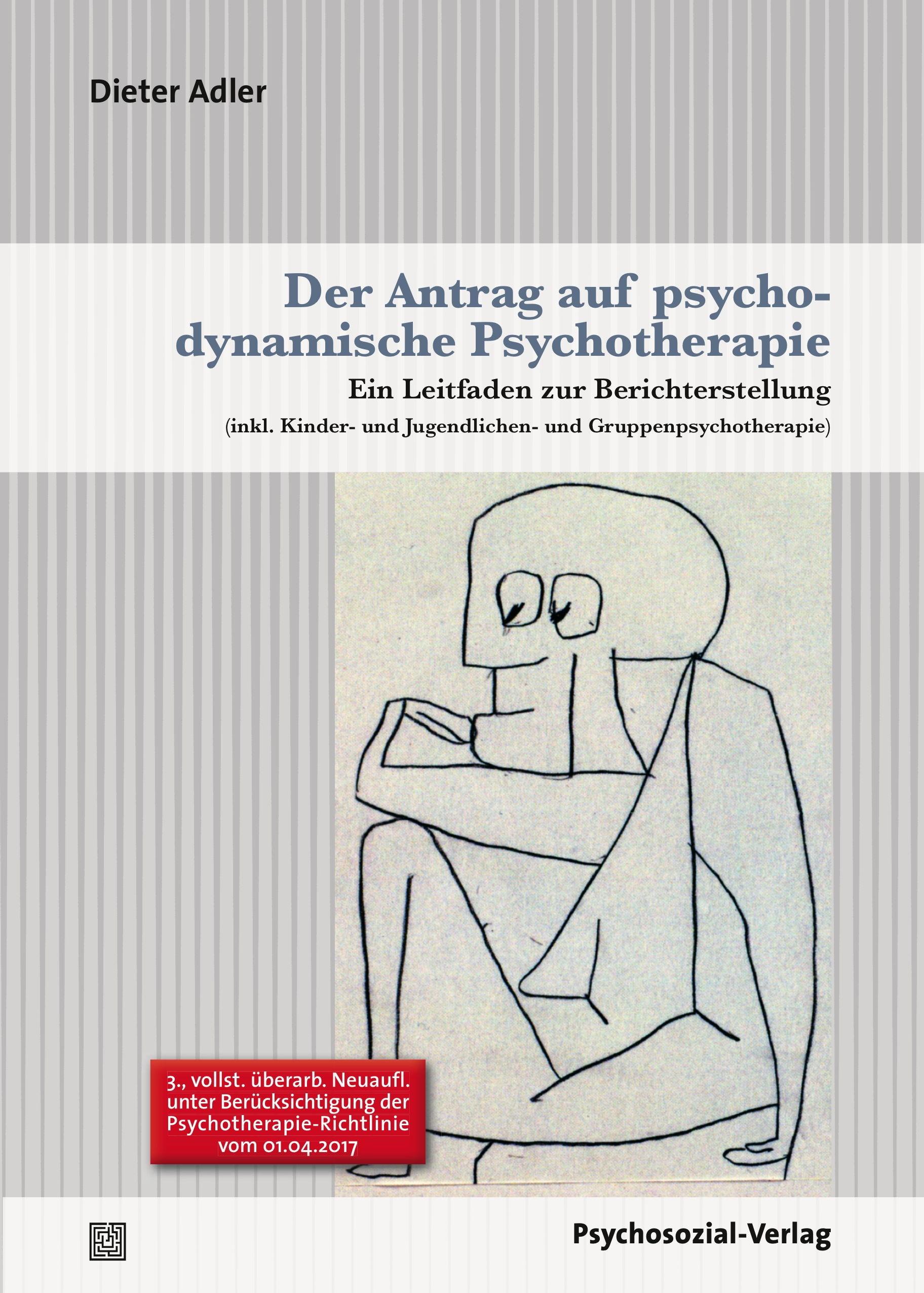 Der Antrag auf psychodynamische Psychotherapie   Adler, 2017   Buch (Cover)