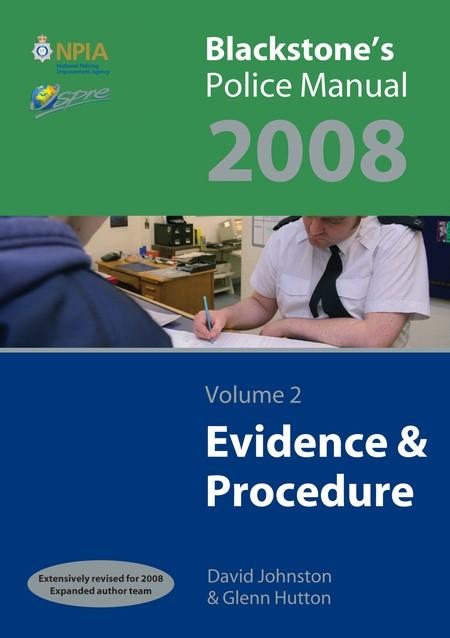 Abbildung von Hutton / Johnston | Blackstone's Police Manual Volume 2: Evidence and Procedure 2008 | 10th edition | 2007