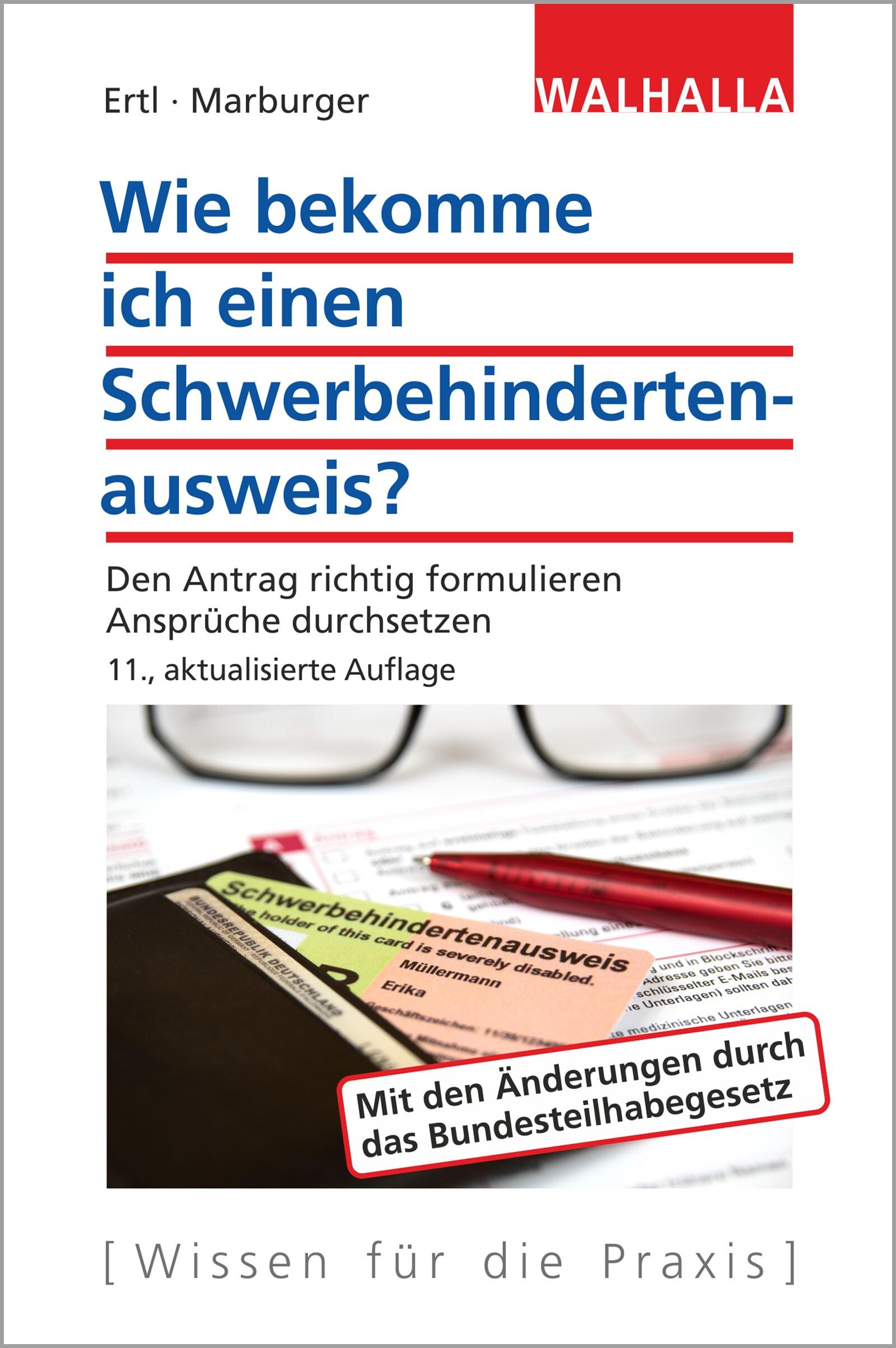 Wie bekomme ich einen Schwerbehindertenausweis? | Ertl / Marburger | 11. Auflage, 2017 | Buch (Cover)