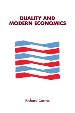 Abbildung von Cornes | Duality and Modern Economics | 1992