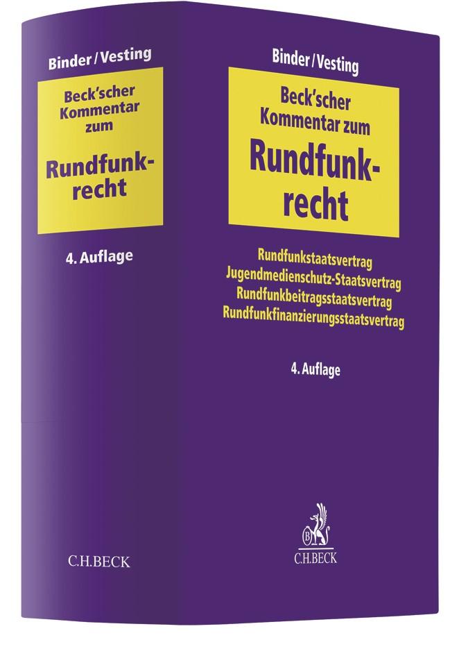 Beck'scher Kommentar zum Rundfunkrecht | Binder / Vesting | 4. Auflage, 2017 | Buch (Cover)