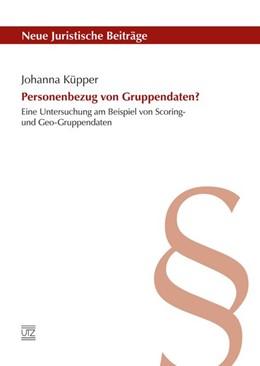 Abbildung von Küpper   Personenbezug von Gruppendaten?   1. Auflage   2016   114   beck-shop.de