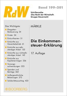 Abbildung von Märkle | Die Einkommensteuer-Erklärung | 17. Auflage | 2017 | 199-201 | beck-shop.de