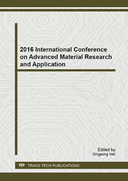 Abbildung von Mei | 2016 International Conference on Advanced Material Research and Application | 2017 | Volume 1142