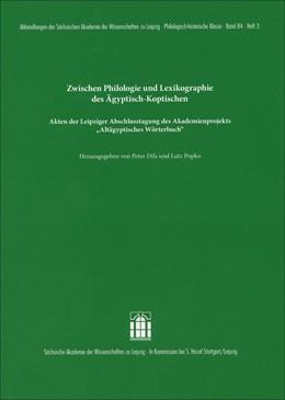 Abbildung von Dils / Popko | Zwischen Philologie und Lexikographie des Ägyptisch-Koptischen | 1. Auflage | 2016 | 84.3 | beck-shop.de