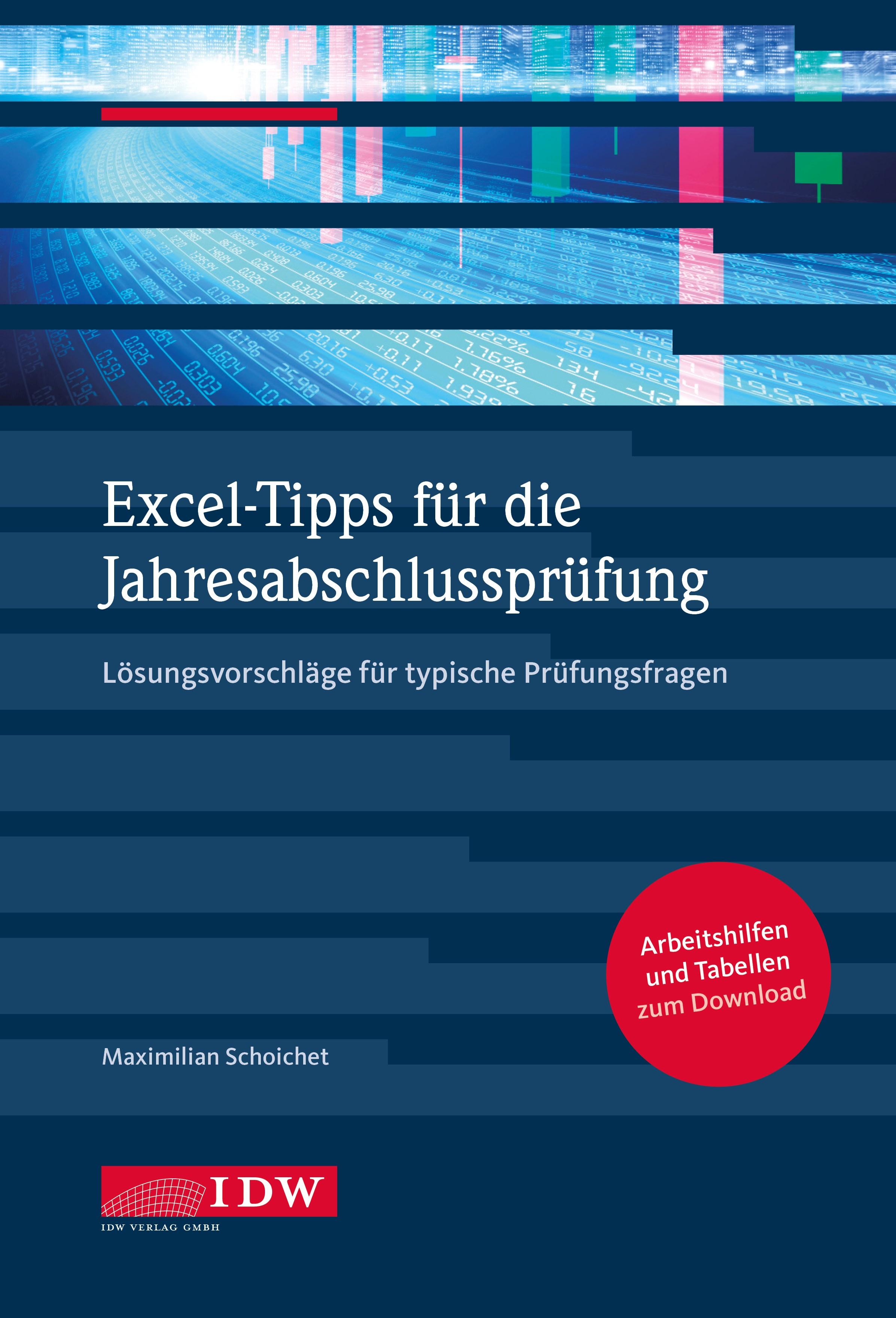 Excel-Tipps für die Jahresabschlussprüfung   Schoichet, 2017   Buch (Cover)