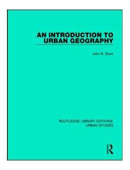 Abbildung von Short   An Introduction to Urban Geography   1. Auflage   2017   beck-shop.de
