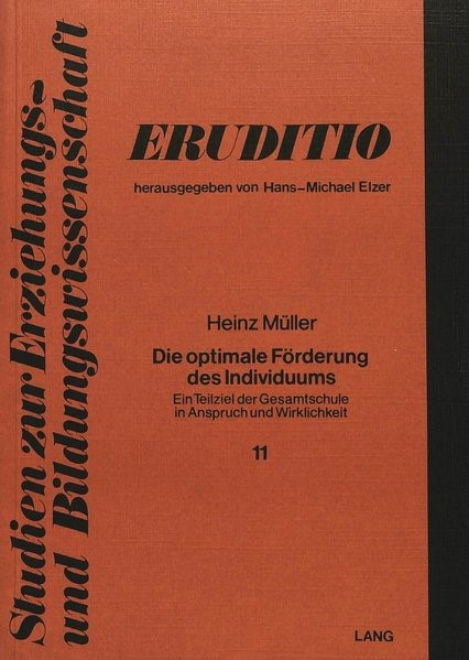 Die optimale Förderung des Individuums | Müller, 1979 | Buch (Cover)