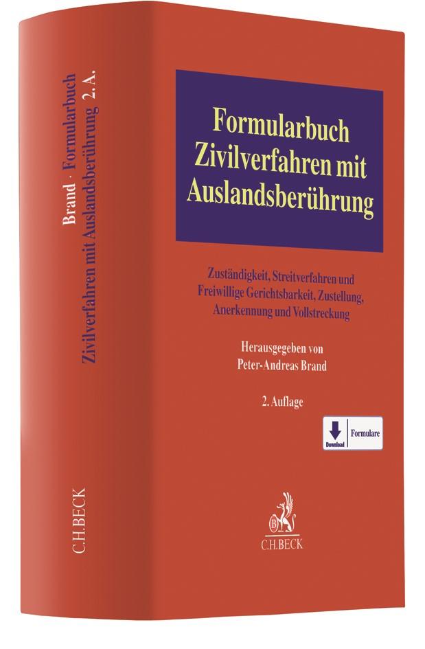 Formularbuch Zivilverfahren mit Auslandsberührung   2. Auflage, 2018   Buch (Cover)