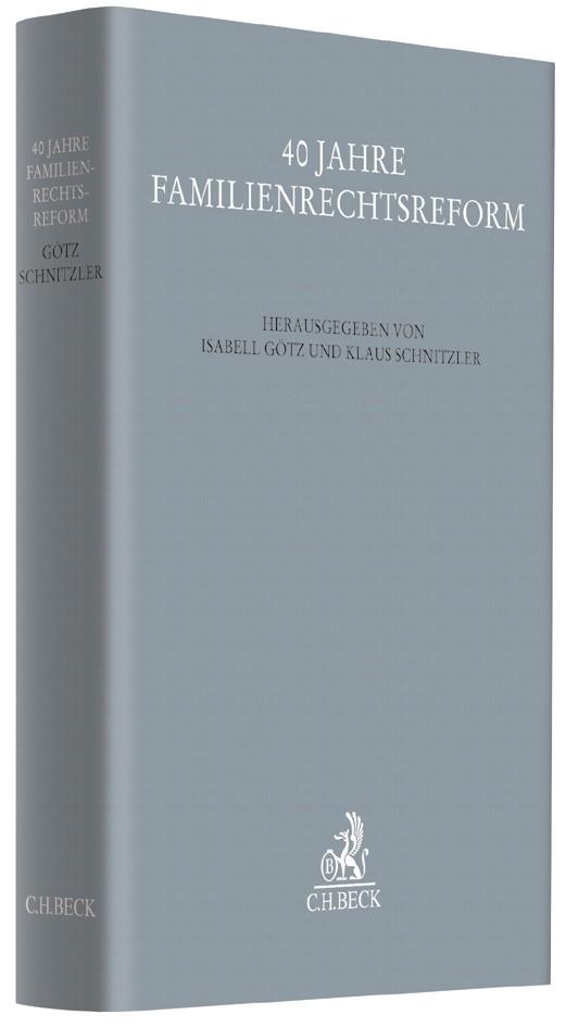 40 Jahre Familienrechtsreform, 2017 | Buch (Cover)