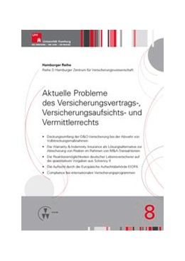 Abbildung von Drees / Nell / Koch   Aktuelle Probleme des Versicherungsvertrags-, Versicherungsaufsichts- und Vermittlerrechts   2016   8