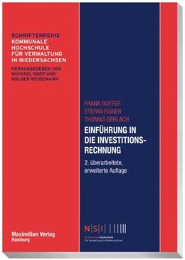 Abbildung von Boffer / Eisner / Gerlach | Einführung in die Investitionsrechnung | 2. Auflage | 2016