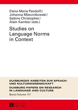 Abbildung von Pandolfi / Miecznikowski | Studies on Language Norms in Context | 1. Auflage | 2016 | 117 | beck-shop.de