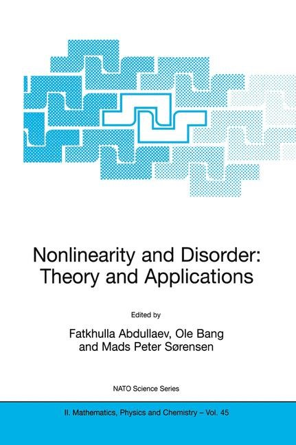 Nonlinearity and Disorder: Theory and Applications | Abdullaev / Bang / Sørensen, 2002 | Buch (Cover)