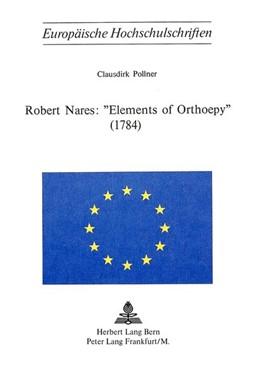 Abbildung von Pollner | Robert Nares: «Elements of Orthoepy» (1784) | 1976
