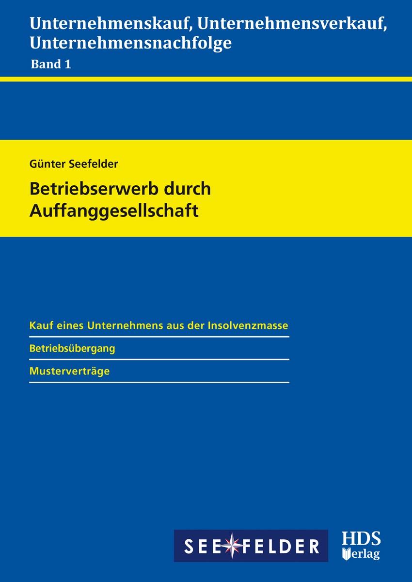 Betriebserwerb durch Auffanggesellschaft   Seefelder, 2019 (Cover)