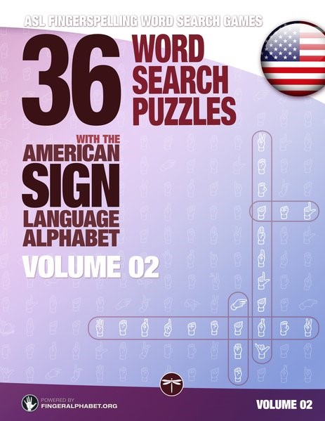 36 Word Search Puzzles with the American Sign Language Alphabet - Volume 02, 2017 | Buch (Cover)