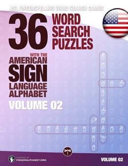 Abbildung von 36 Word Search Puzzles with the American Sign Language Alphabet - Volume 02 | 2017 | ASL Fingerspelling Word Search...