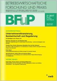 Unternehmensfinanzierung, Bankwirtschaft und Regulierung., 2017 (Cover)