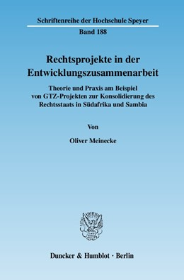Abbildung von Meinecke   Rechtsprojekte in der Entwicklungszusammenarbeit.   2007   Theorie und Praxis am Beispiel...   188