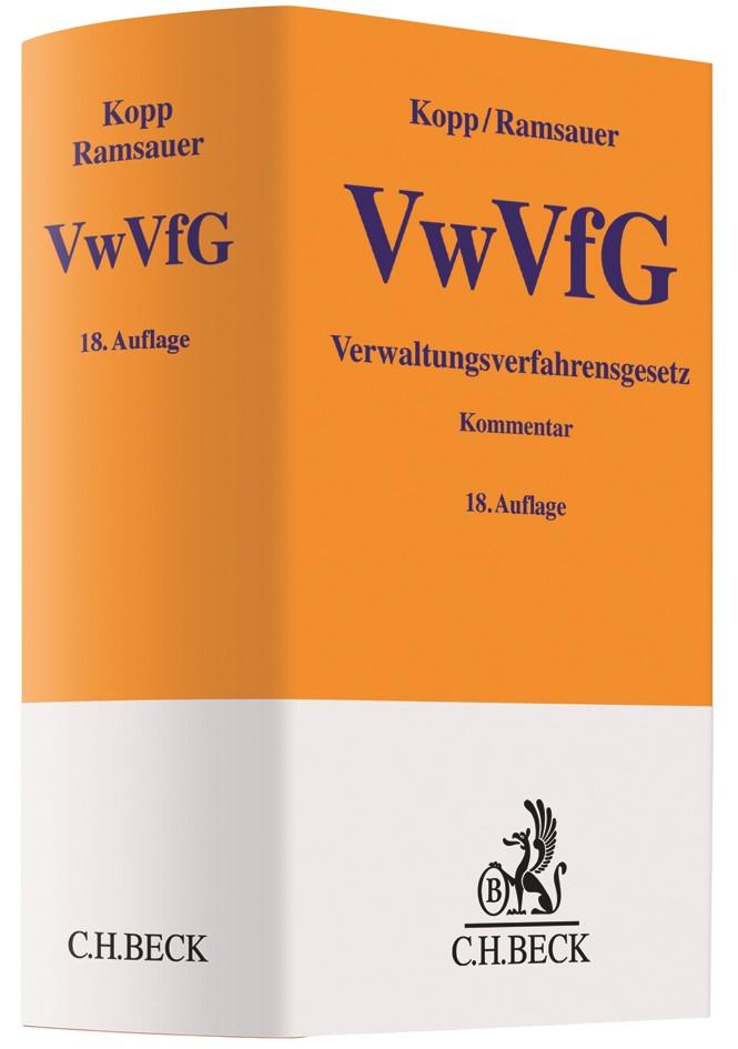 Verwaltungsverfahrensgesetz: VwVfG | Kopp / Ramsauer | 18., vollständig überarbeitete Auflage, 2017 | Buch (Cover)