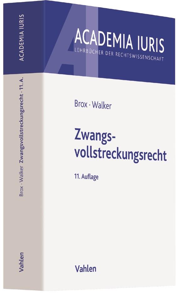 Zwangsvollstreckungsrecht | Brox / Walker | 11., neu bearbeitete Auflage, 2017 | Buch (Cover)