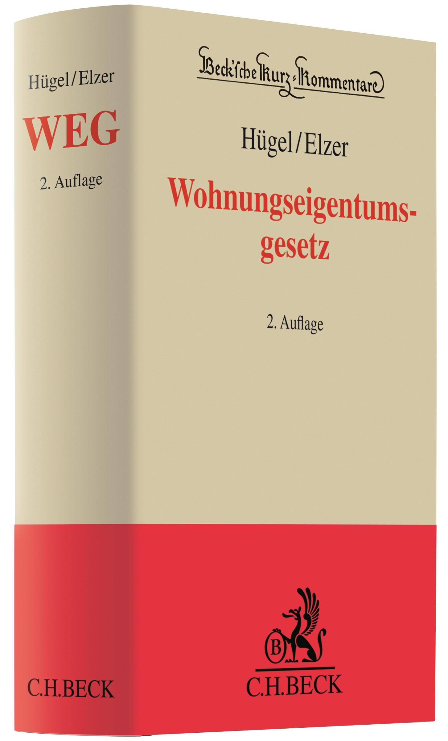 Wohnungseigentumsgesetz: WEG | Hügel / Elzer | 2. Auflage, 2017 | Buch (Cover)