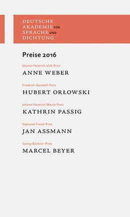 Abbildung von Preise 2016 | 2017 | Laudationes und Dankreden